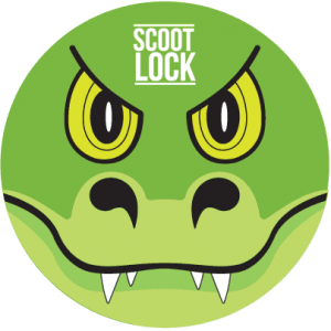Alligato- Scoot-Lock-Label