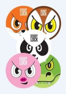 SCOOT-LOCK-ANIMAL-STICKERS